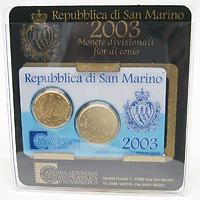 San Marino : 0,70 Euro Originalsatz aus San Marino, 20 + 50 Cent Mini Kit  2003 bfr KMS San Marino 2003 Mini Kit