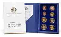 San Marino : 3,88 Euro original Kursmünzensatz aus San Marino  2009 PP