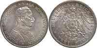 Deutschland : 3 Mark Wilhelm II.  1914 vz/Stgl.