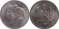 Deutschland : 3 Mark Friedrich II. u. Marie  1914 vz.