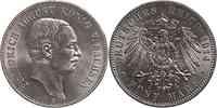 Deutschland : 5 Mark Friedrich August III.  1914 Stgl.