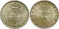 Deutschland : 3 Reichsmark  -selten- 1932 vz/Stgl.
