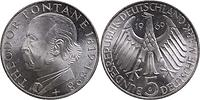 Deutschland : 5 DM Fontane  1969 vz/Stgl.