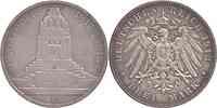 Deutschland : 3 Mark 100 Jahre Völkerschlacht bei Leipzig patina 1913 vz/Stgl.