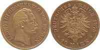 Deutschland : 10 Mark Ludwig III. winz. Rs. 1875 ss.