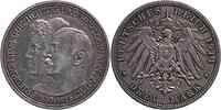 Deutschland : 3 Mark Friedrich II. u. Marie patina 1914 vz.