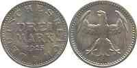 Deutschland : 3 Mark -selten- 1925 Stgl.