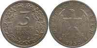 Deutschland : 3 Reichsmark  patina 1932 vz/Stgl.