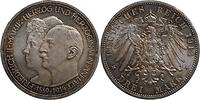 Deutschland : 3 Mark Friedrich II. u. Marie patina 1914 Stgl.