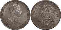 Deutschland : 3 Mark Wilhelm II. patina 1914 vz/Stgl.