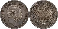Deutschland : 5 Mark Albert a.d. Tod patina 1902 f.ss