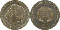 DDR : 20 Mark Karl Liebknecht & Rosa Luxemburg  1971 Stgl.