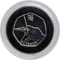 Großbritannien : 50 Pence Bogenschießen 2/29  2011 PP