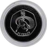 Großbritannien : 50 Pence Goalball ( Blindenball ) 13/29  2011 PP