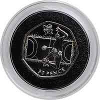 Großbritannien : 50 Pence Handball 15/29  2011 PP