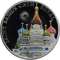 Palau Islands : 5 Dollar Welt der Wunder - Basiliuskathedrale Moskau, farbig  2010 PP