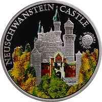 Palau Islands : 5 Dollar Welt der Wunder - Schloss Neuschwanstein, farbig  2010 PP