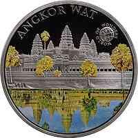 Palau Islands : 5 Dollar Welt der Wunder - Angkor Wat, farbig  2010 PP