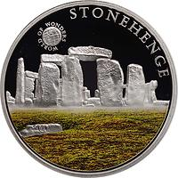 Palau Islands : 5 Dollar Welt der Wunder - Stonehenge, farbig  2010 PP