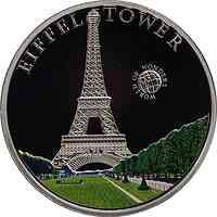 Palau Islands : 5 Dollar Welt der Wunder - Eiffelturm, farbig  2010 PP