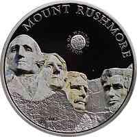 Palau Islands : 5 Dollar Welt der Wunder - Mt. Rushmore, farbig  2011 PP