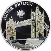 Palau Islands : 5 Dollar Welt der Wunder - London Tower Bridge, farbig  2011 PP