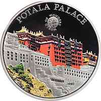 Palau Islands : 5 Dollar Welt der Wunder - Potala Palast, farbig  2011 PP