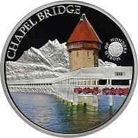 Palau Islands : 5 Dollar Welt der Wunder - Chapel Bridge, farbig  2011 PP