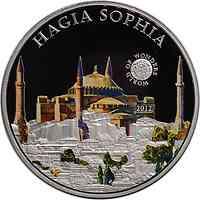 Palau Islands : 5 Dollar Welt der Wunder - Hagia Sophia, farbig  2012 PP