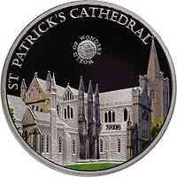 Palau Islands : 5 Dollar Welt der Wunder - St. Patrick#s Kathedrale, farbig  2012 PP