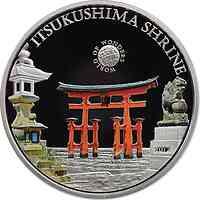 Palau Islands : 5 Dollar Welt der Wunder - Itsukushima Shrine, farbig  2012 PP