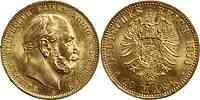 Deutschland : 10 Mark Wilhelm I. winz. Kratzer 1874 vz/Stgl.