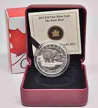 Kanada : 10 Dollar O Canada - Polarbär - im Etui  2013 PP