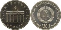 DDR : 20 Mark Brandenburger Tor  1990 Stgl.