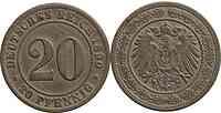 Deutschland : 20 Pfennig   1890 ss.
