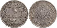 Deutschland : 1/2 Mark   1908 ss.