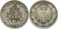 Deutschland : 1/2 Mark 1912 vz/Stgl.