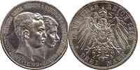 Deutschland : 3 Mark Ernst August und Viktoria 1915 vz/Stgl.