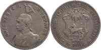Deutschland : 1/2 Rupie Wilhelm II. in Uniform  1901 ss.