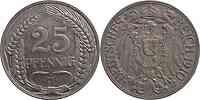 Deutschland : 25 Pfennig   1910 vz.