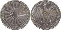 Deutschland : 10 DM Strahlenspirale Deutschland  1972 vz/Stgl.