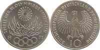 Deutschland : 10 DM Flamme 1972 vz/Stgl.