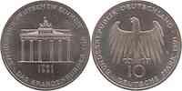 Deutschland : 10 DM Brandenburger Tor  1991 vz/Stgl.