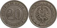 Deutschland : 20 Pfennig   1887 ss.