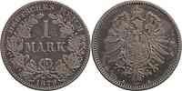 Deutschland : 1 Mark  -sehr selten !- 1879 s/ss.