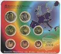 Spanien : 3,88 Euro original Kursmünzensatz aus Spanien  2004 bfr KMS Spanien 2004