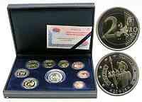 Spanien : 5,88 Euro KMS Spanien mit 2 Euro Gedenkmünze Don Quijote in PP  2005 PP KMS Spanien 2005 PP