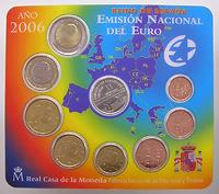 Spanien : 3,88 Euro original Kursmünzensatz aus Spanien - 20. Jahrestag des spanischen EU-Beitritts  2006 Stgl. KMS Spanien 2006 EU-Beitritt