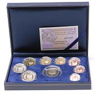 Spanien : 5,88 Euro original Kursmünzensatz aus Spanien mit 2 Euro Gedenkmünze Römische Verträge 2007 PP