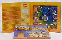 Spanien : 5,88 Euro Medaille Cataluna + original Kursmünzensatz aus Spanien mit 2 Euro Gedenkmünze Alhambra  2011 Stgl.
